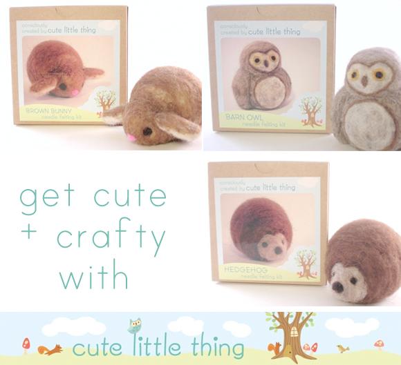 cute little thing, needle felting kits