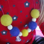 Cheerful Felt+Wood Necklace by Niko &amp; Nonnie