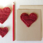 Knit Valentine Hearts