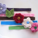 Felted Wool Hair Clip by Sesame Seed Designs