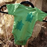 Organic Turtle Onesie by Long Mountain Art