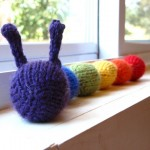 Rainbow Caterpillar Knitting Pattern by This Cosy Life