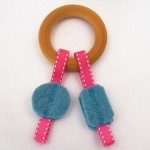 Maple and Wool Teething Toy by Sesame Seed Designs