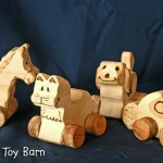 Wooden Animals on Wheels by Funny Farm Toy Barn