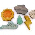 Weather wood toys by Armadillo Dreams