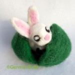 Needle felted Bunny in Wet Felted Egg