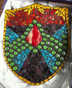 Mosiac Shield. Photo courtesy Portland Waldorf School.