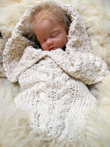 Destined to become a family heirloom, this quick knit project is a natural favorite made from organic cotton yarn.